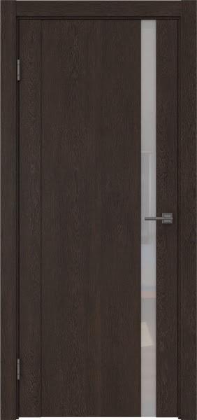 Межкомнатная дверь GM010 (экошпон «дуб шоколад» / лакобель белый)