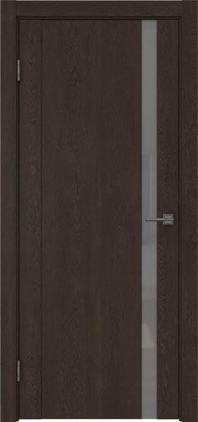 Межкомнатная дверь GM010 (экошпон «дуб шоколад» / лакобель серый)