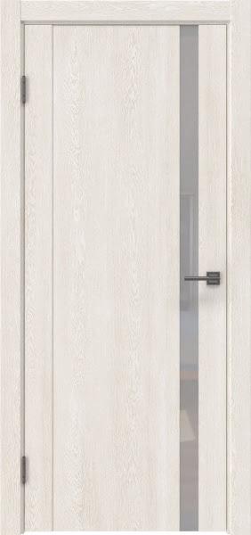 Межкомнатная дверь GM010 (экошпон «белый дуб» / лакобель белый)