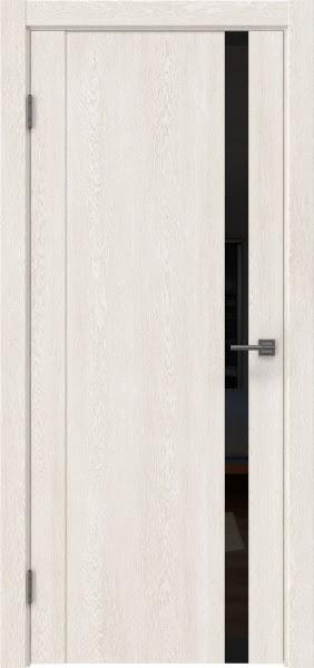 Межкомнатная дверь GM010 (экошпон «белый дуб» / лакобель черный)