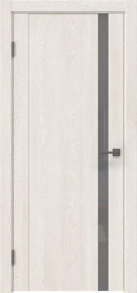 Межкомнатная дверь GM010 (экошпон «белый дуб» / лакобель серый)