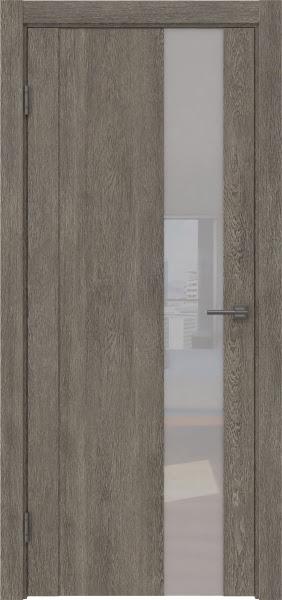 Межкомнатная дверь GM011 (экошпон «серый дуб» / лакобель белый)