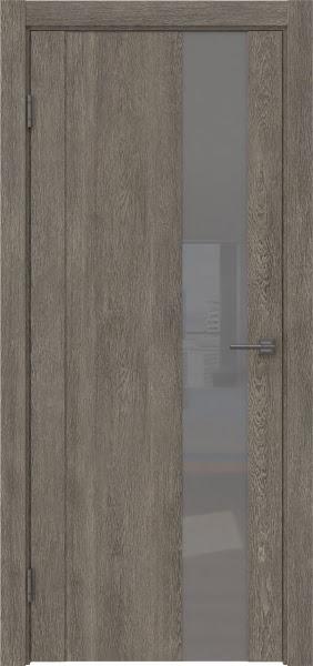 Межкомнатная дверь GM011 (экошпон «серый дуб» / лакобель серый)