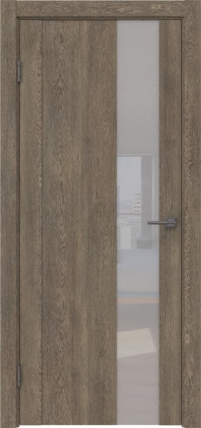 Межкомнатная дверь GM011 (экошпон «дуб антик» / лакобель белый)