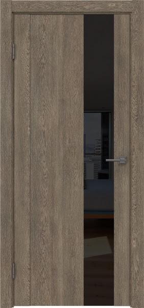 Межкомнатная дверь GM011 (экошпон «дуб антик» / лакобель черный)