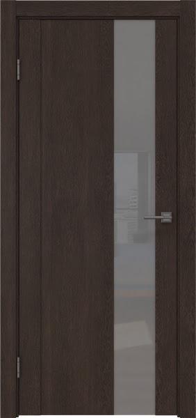 Межкомнатная дверь GM011 (экошпон «дуб шоколад» / лакобель серый)