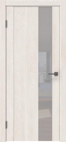 Межкомнатная дверь GM011 (экошпон «белый дуб» / лакобель белый)