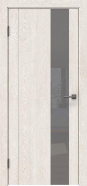 Межкомнатная дверь GM011 (экошпон «белый дуб» / лакобель серый)