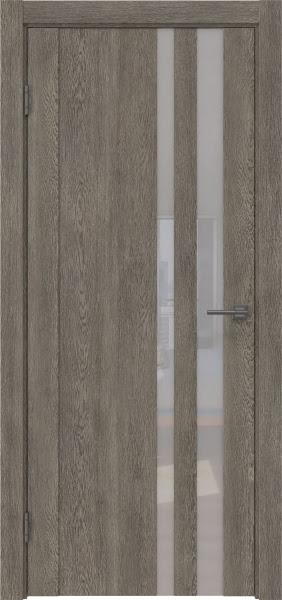 Межкомнатная дверь GM012 (экошпон «серый дуб» / лакобель белый)