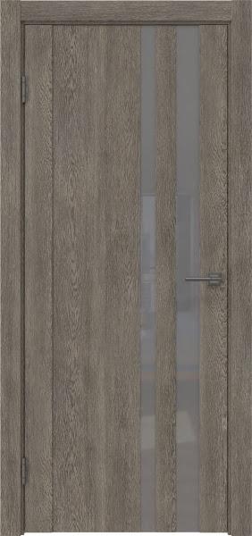 Межкомнатная дверь GM012 (экошпон «серый дуб» / лакобель серый)