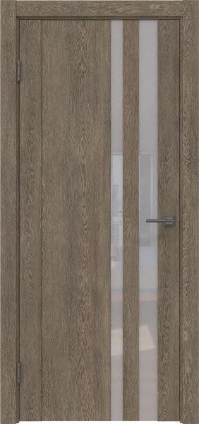 Межкомнатная дверь GM012 (экошпон «дуб антик» / лакобель белый)