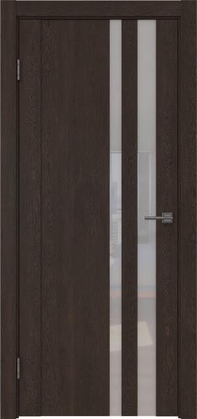 Межкомнатная дверь GM012 (экошпон «дуб шоколад» / лакобель белый)