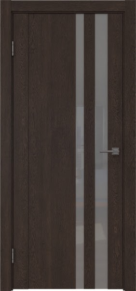 Межкомнатная дверь GM012 (экошпон «дуб шоколад» / лакобель серый)