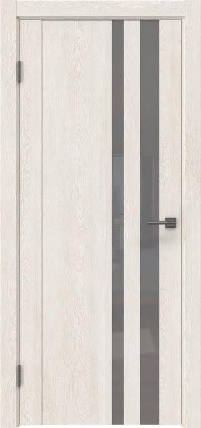 Межкомнатная дверь GM012 (экошпон «белый дуб» / лакобель серый)