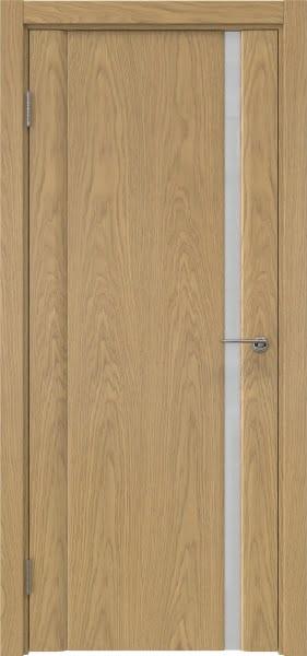 Межкомнатная дверь GM015 (натуральный шпон дуба / триплекс белый)