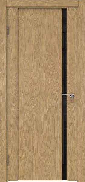Межкомнатная дверь GM015 (натуральный шпон дуба / триплекс черный)