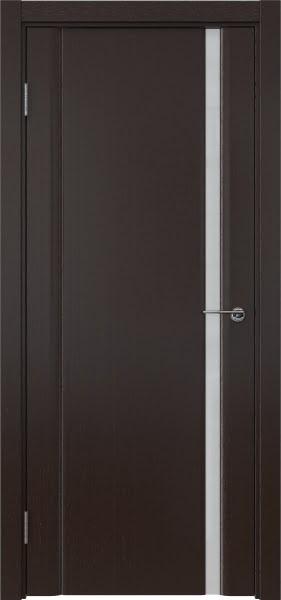 Межкомнатная дверь GM015 (шпон венге / триплекс белый)