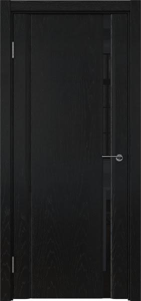 Межкомнатная дверь GM015 (шпон ясень черный / триплекс черный)
