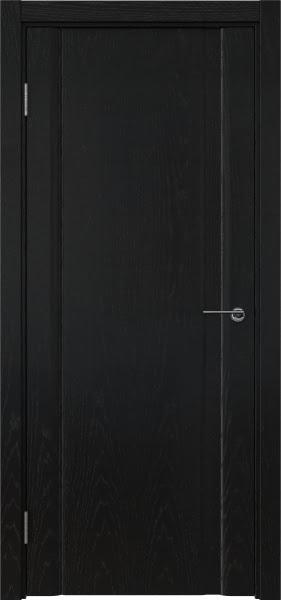 Межкомнатная дверь GM015 (шпон ясень черный / глухая)