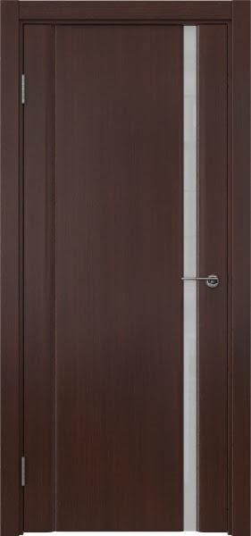 Межкомнатная дверь GM015 (шпон итальянский орех / триплекс белый)