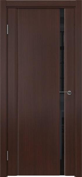 Межкомнатная дверь GM015 (шпон итальянский орех / триплекс черный)