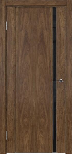 Межкомнатная дверь GM015 (шпон американский орех / триплекс черный)