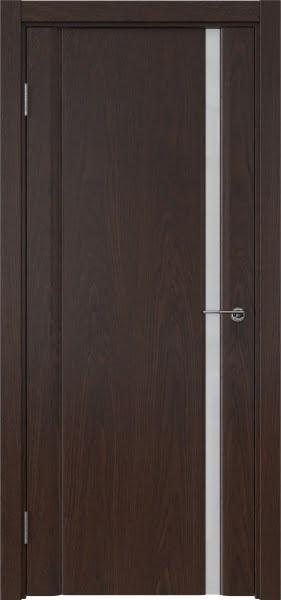 Межкомнатная дверь GM015 (шпон дуб коньяк / триплекс белый)
