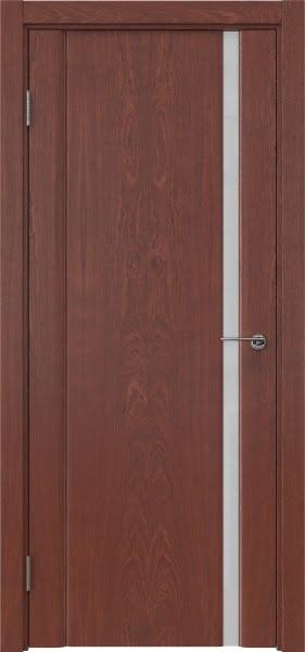 Межкомнатная дверь GM015 (шпон красное дерево / триплекс белый)