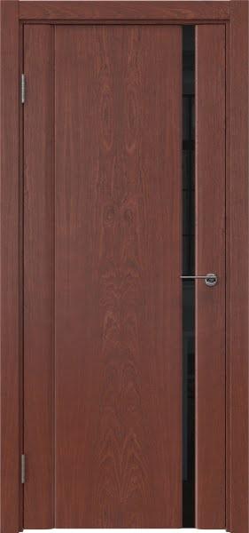 Межкомнатная дверь GM015 (шпон красное дерево / триплекс черный)