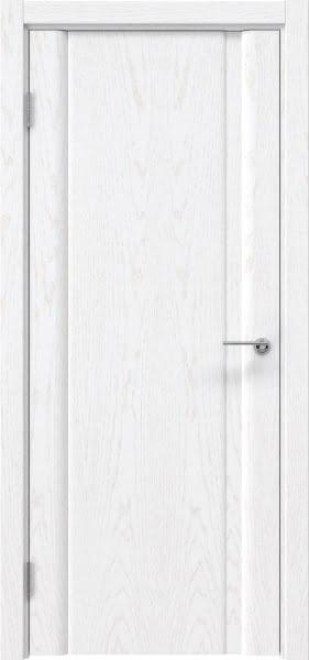 Межкомнатная дверь GM015 (шпон ясень белый, глухая)