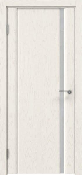 Межкомнатная дверь GM015 (шпон ясень слоновая кость / триплекс белый)