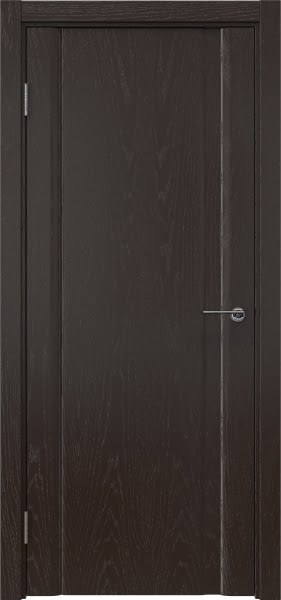 Межкомнатная дверь GM015 (шпон ясень темный, глухая)
