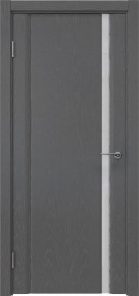 Межкомнатная дверь GM015 (шпон ясень серый / триплекс белый)