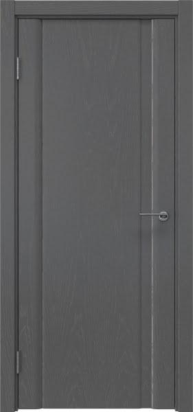 Межкомнатная дверь GM015 (шпон ясень серый, глухая)