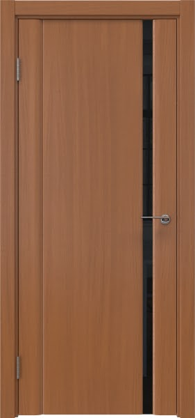 Межкомнатная дверь GM015 (шпон анегри / триплекс черный)