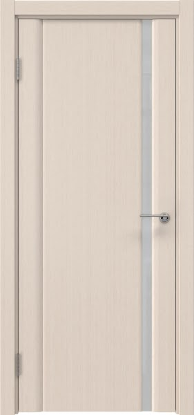 Межкомнатная дверь GM015 (шпон беленый дуб / триплекс белый)