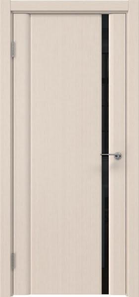 Межкомнатная дверь GM015 (шпон беленый дуб / триплекс черный)