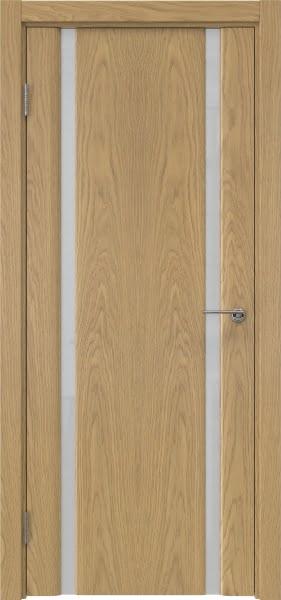Межкомнатная дверь GM016 (натуральный шпон дуба / триплекс белый)