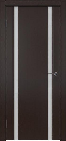 Межкомнатная дверь GM016 (шпон венге / триплекс белый)
