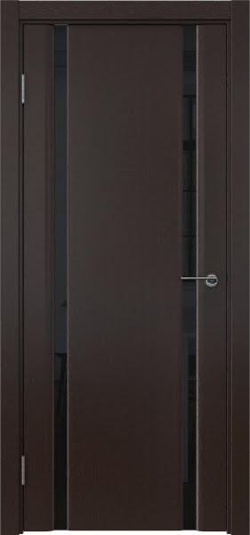 Межкомнатная дверь GM016 (шпон венге / триплекс черный)