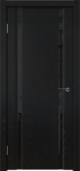 Межкомнатная дверь GM016 (шпон ясень черный / триплекс черный)