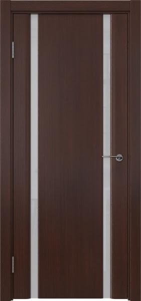 Межкомнатная дверь GM016 (шпон итальянский орех / триплекс белый)
