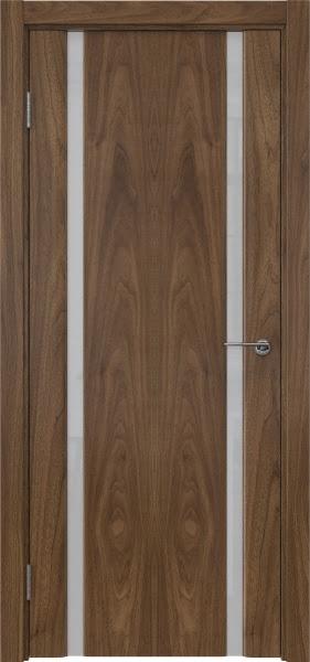 Межкомнатная дверь GM016 (шпон американский орех / триплекс белый)
