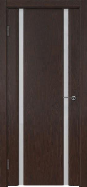 Межкомнатная дверь GM016 (шпон дуб коньяк / триплекс белый)