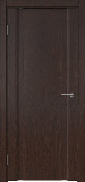 Межкомнатная дверь GM016 (шпон дуб коньяк, глухая)