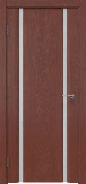 Межкомнатная дверь GM016 (шпон красное дерево / триплекс белый)