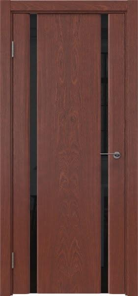 Межкомнатная дверь GM016 (шпон красное дерево / триплекс черный)