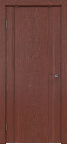 Межкомнатная дверь GM016 (шпон красное дерево, глухая)