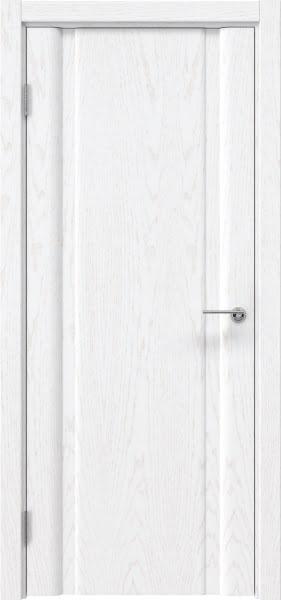 Межкомнатная дверь GM016 (шпон ясень белый, глухая)