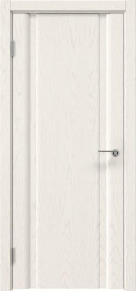 Межкомнатная дверь GM016 (шпон ясень слоновая кость, глухая)